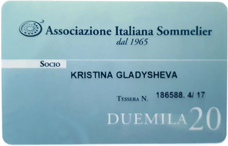 Tessera - Associazione Italiana Sommelier